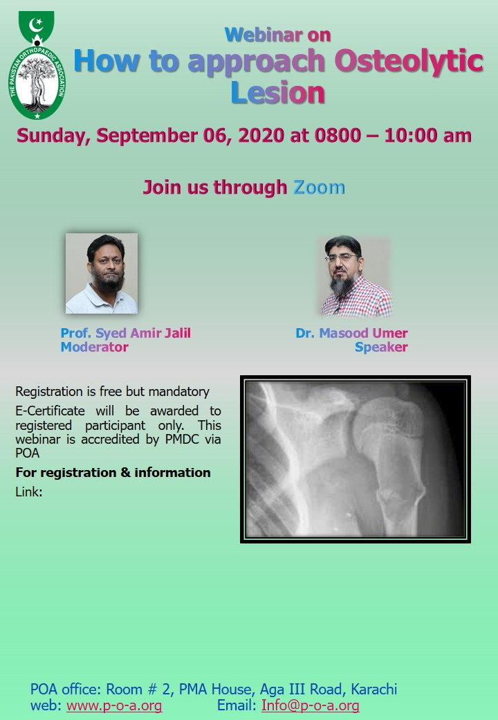 Webinar on How to approach Osteolytic Lesion