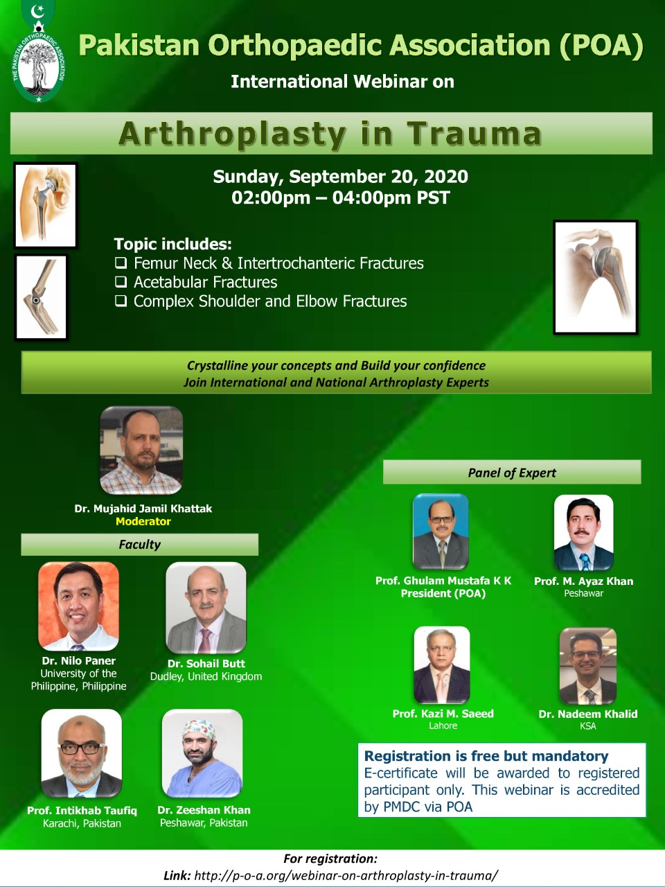Webinar on Arthroplasty in Trauma