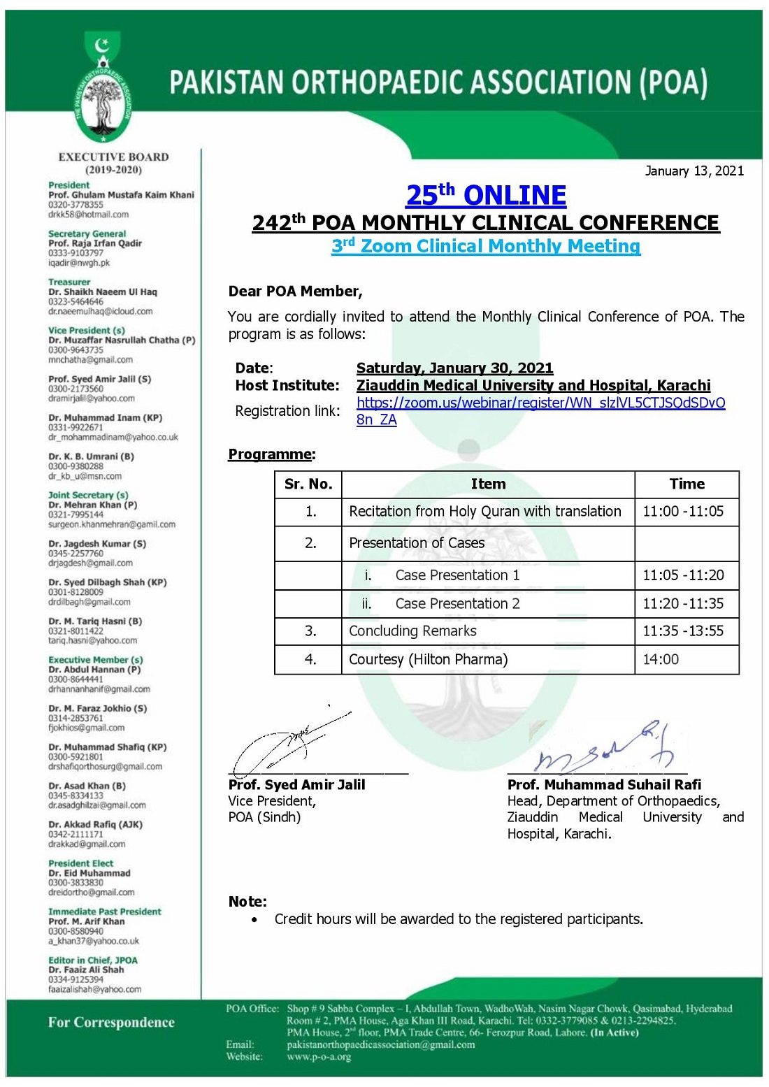 3rd Zoom Clinical Monthly Meeting